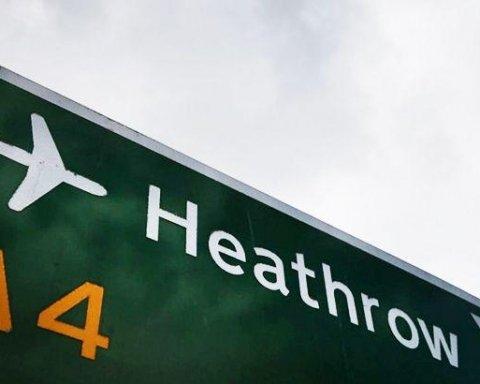 Возле главного аэропорта Лондона произошел масштабный пожар
