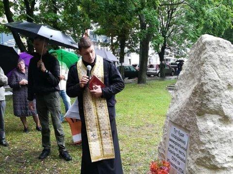 Во Львове пытались украсть памятник героям УПА
