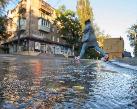 Ливни в Киеве: столичные дороги превратились в реки