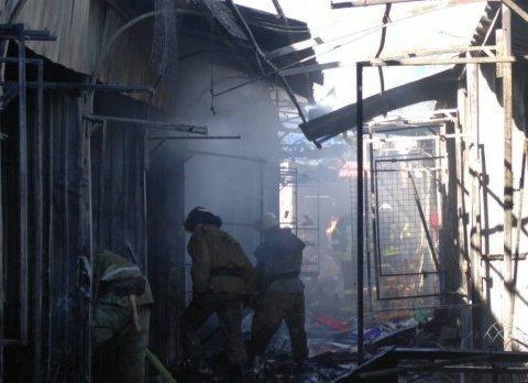 Сильный пожар охватил Славянск