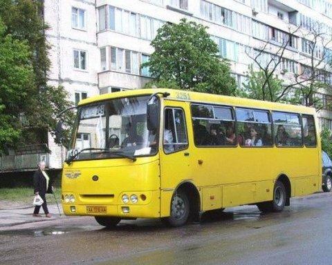 Киевлян всполошил вооруженный мужчина в маршрутке