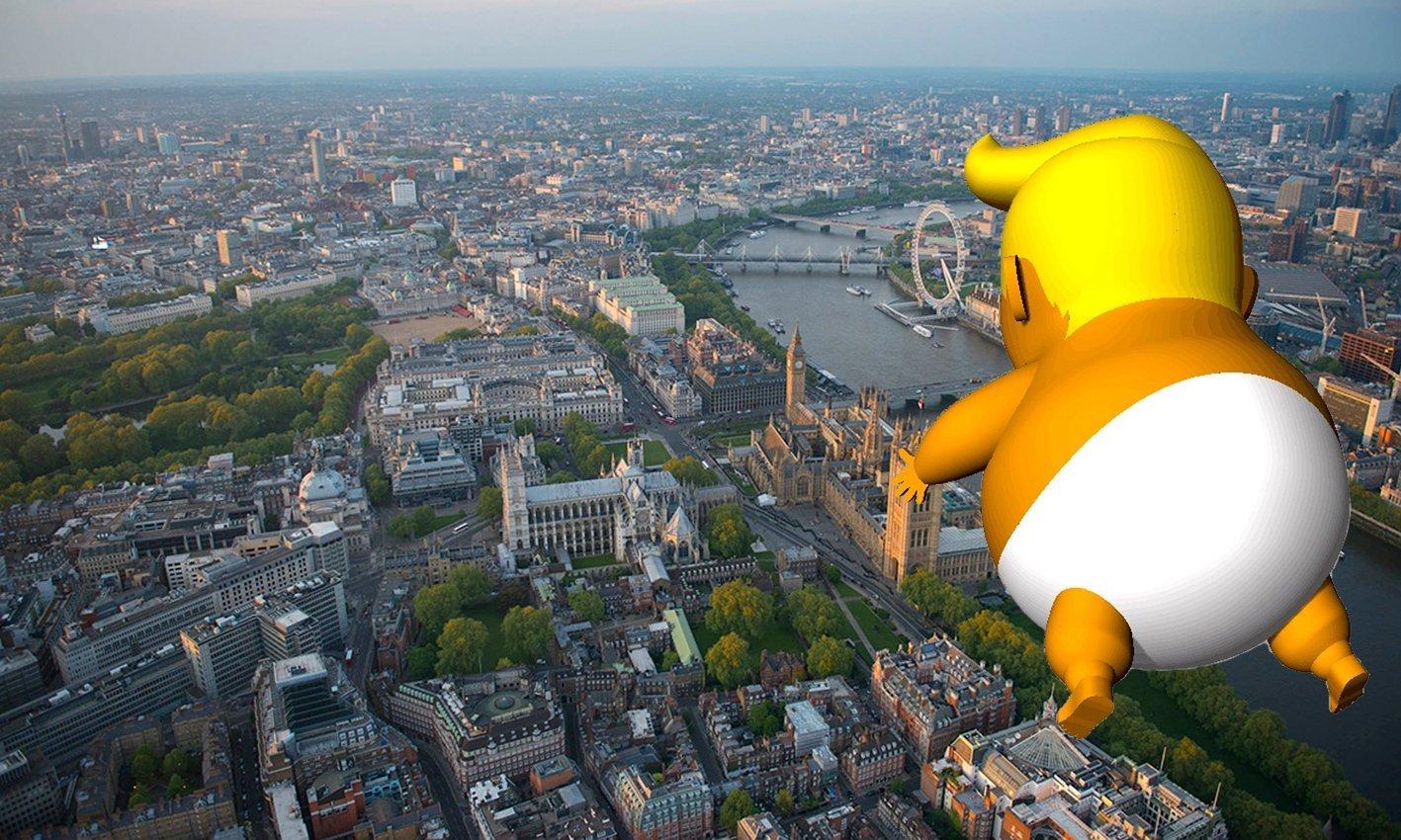 В центре Лондона надули Дональда Трампа