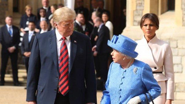 Трамп встретился с Елизаветой II