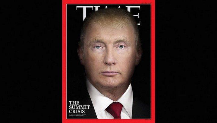 На обложке свежего выпуска Time появился «Трампутин»