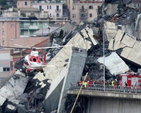 Обвалення мосту у Генуї: кількість жертв продовжує зростати