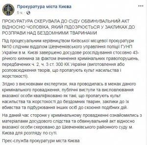 Киевский живодер Святогор предстанет перед судом