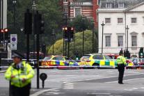 Авто протаранило толпу велосипедистов под парламентом
