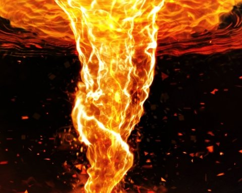 """Через масштабну пожежу з вогню """"вийшло"""" величезне торнадо: яскраві кадри"""