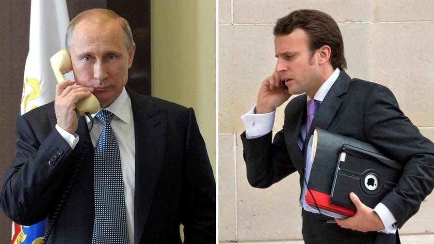 Макрон обговорить з Путіним звільнення Сенцова