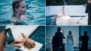 Дженніфер Лоуренс попозувала у басейні для відомого бренду