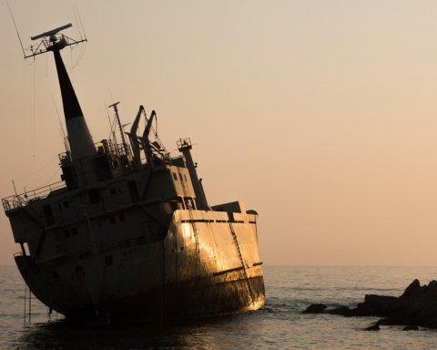 Український корабель потрапив у НП в Росії