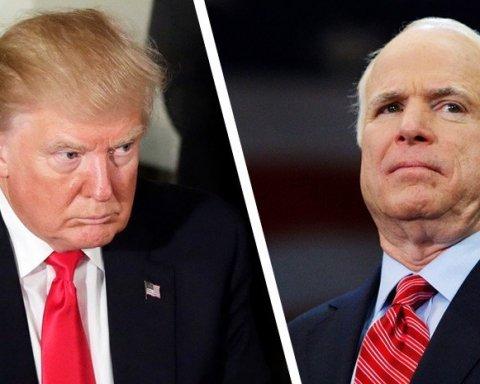 Трампу отказали в посещении похорон Маккейна
