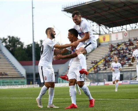 Заря сыграла вничью с Брагой в квалификации Лиги Европы