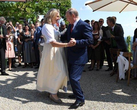 Весілля австрійського міністра: з'явилося відео танцю Путіна з нареченою