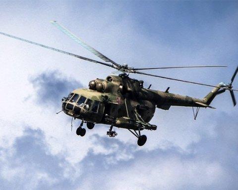 Второе ЧП за сутки: в России жестко сел и загорелся вертолет