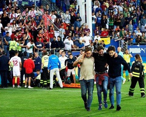 Два фаната пострадали в результате ЧП на футбольном матче: опубликовано видео