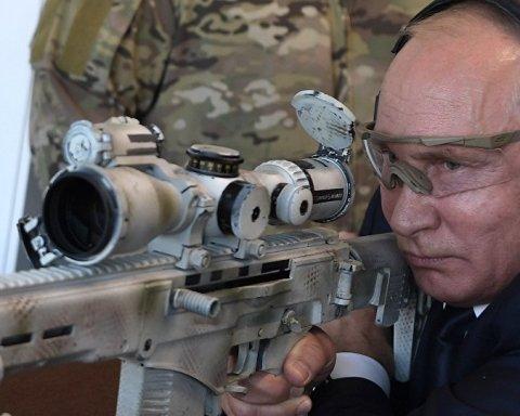 Путин показал, как он стреляет: с видео посмеялись в сети