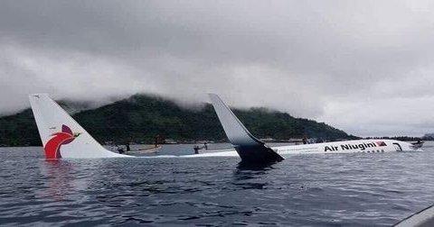 Boeing с пасажирами не долетів до злітної смуги та опинився у воді