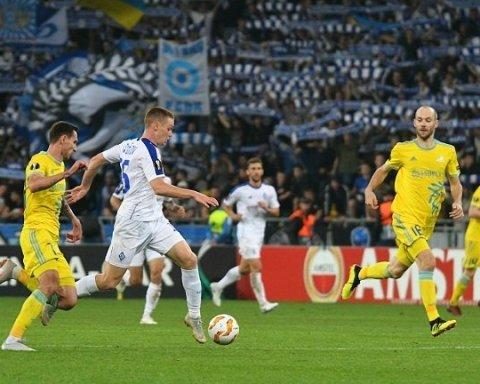 Динамо — Астана 2:2: хроника матча Лиги Европы, видео голов