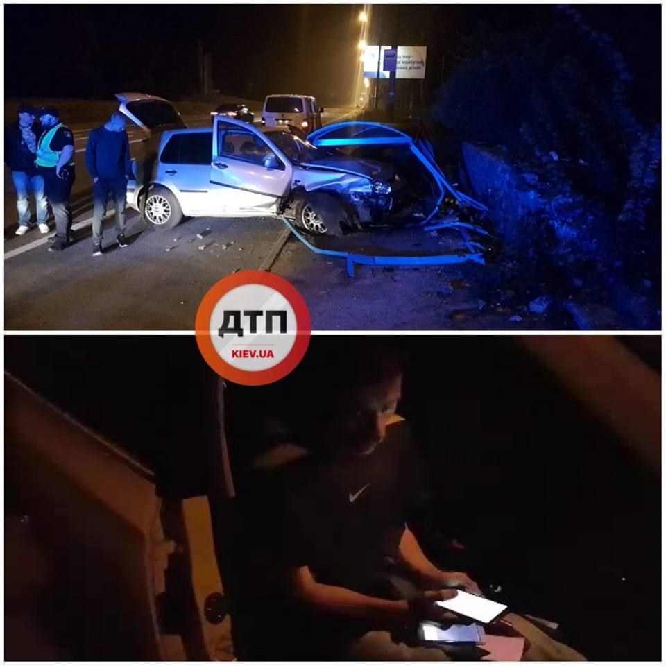 У Києві водій під кайфом протаранив зупинку: свідки поділились фото