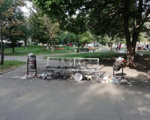 Посвящение в студенты: первокурсники разгромили киевский парк