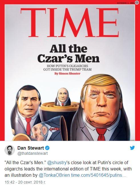 Все люди царя: журнал Time заинтриговал обложкой с Трампом и Путиным