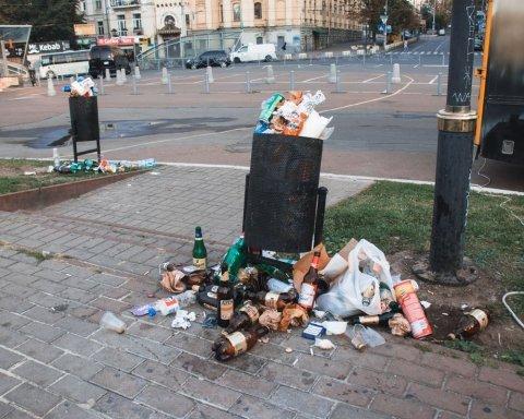 Киев превратился в гигантский мусорник после концерта Imagine Dragons