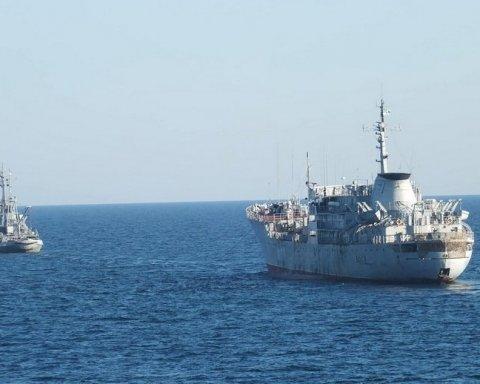 Как украинские корабли прошли путинский мост в Крым: новые фото