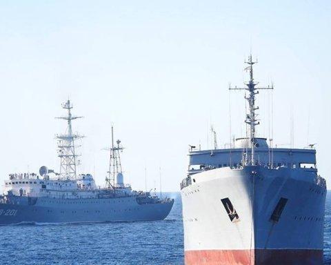 Корабли, которые прошли мост в Крым, достигли цели: появились фото