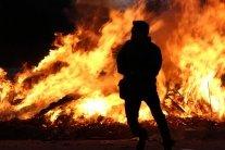 У центрі Києва за лічені хвилини вщент згоріло авто