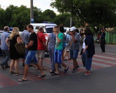 У Запоріжжі стався бунт, жителі перекрили дорогу