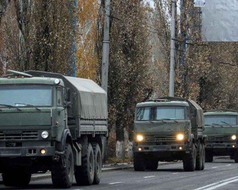 Что-то намечается: на Донбассе заметили большую колонну автомобилей из России