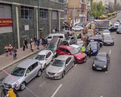 Масштабная авария в центре Киева: появилось впечатляющее фото с высоты