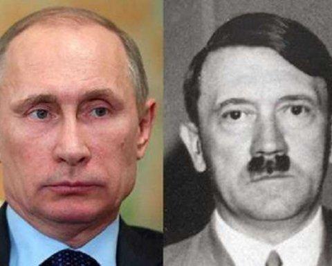 Путіна запідозрили в копіюванні промови Гітлера