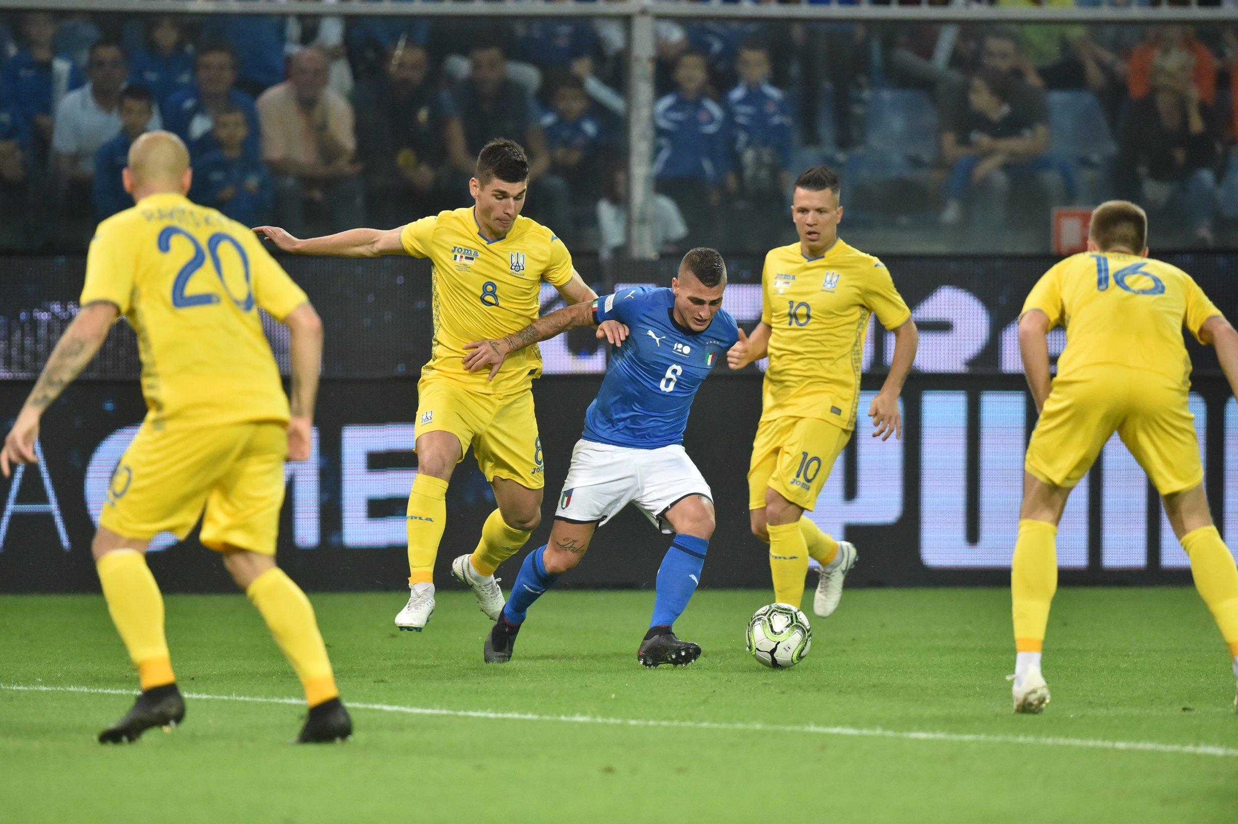 Сборная Украины добыла ничью в матче с Италией: видео голов