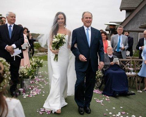 Дочка Джорджа Буша таємно вийшла заміж за письменника: з'явилися весільні фото