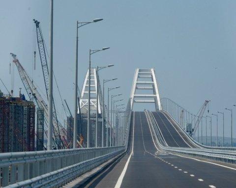 Путінський міст у Крим шокував порожнечею: з'явилося показове фото