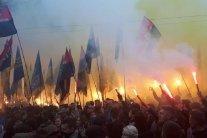 У Києві заспівали гімн ОУН та встановили рекорд: опубліковано відео