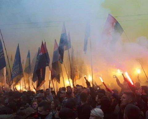 В Киеве спели гимн ОУН и установили рекорд: опубликовано видео