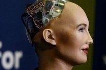 Гройсман встретился со знаменитым роботом Софией: смешное видео