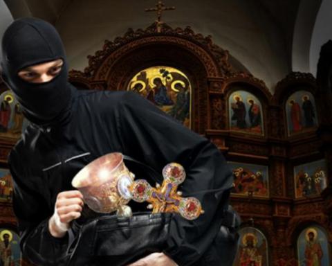 На Харьковщине ограбили храм: фото с места происшествия