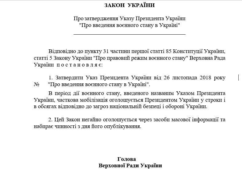 Що треба знати про воєнний стан в Україні: повний текст закону