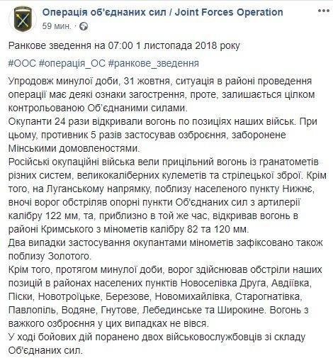 На Донбасі ознаки загострення поранено українських військових