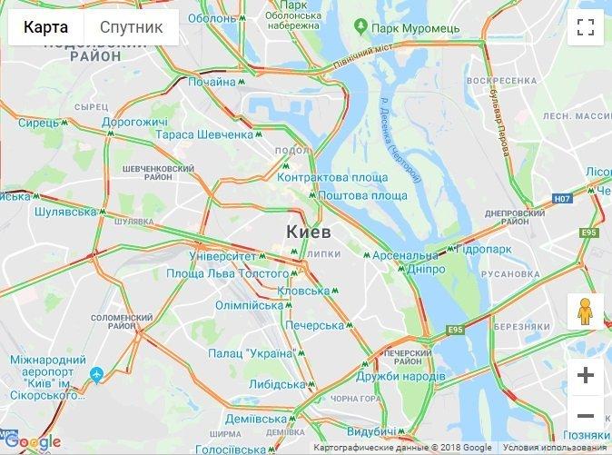Полиция шокировала данными о ДТП в Киеве: карта пробок