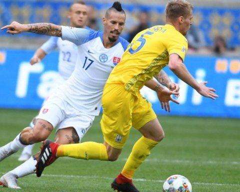 Словакия — Украина 2:0: онлайн-трансляция матча Лиги наций, видео гола