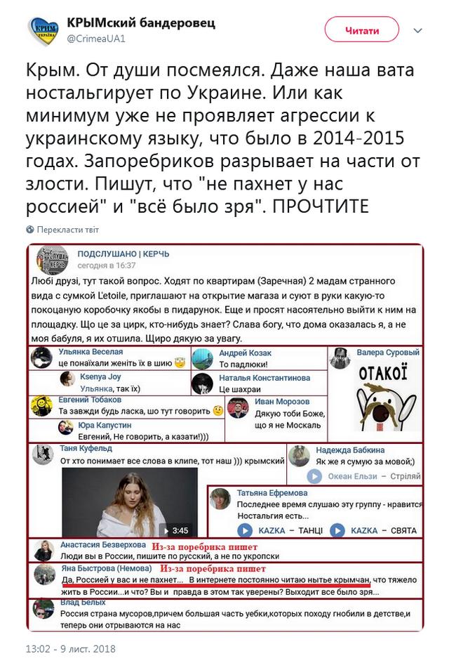 В Крыму началась ностальгия по Украине, есть доказательства