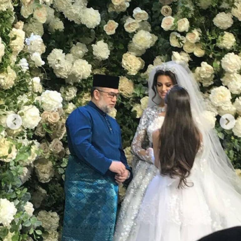 Король Малайзії одружився з росіянкою: з'явилися весільні фото