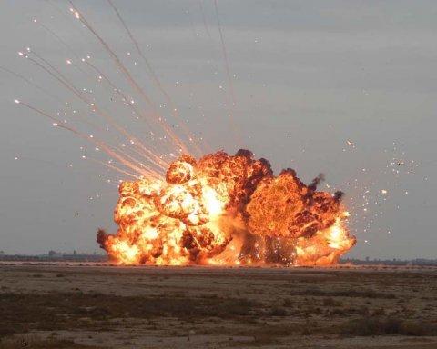 На Донбассе произошел мощный взрыв: появились фото и видео момента