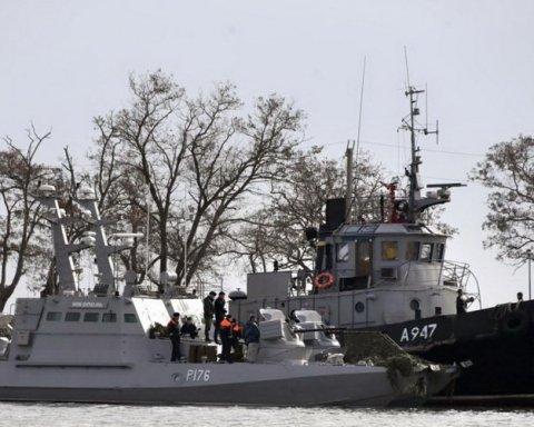 Россияне показали еще одно фото захваченных украинских кораблей