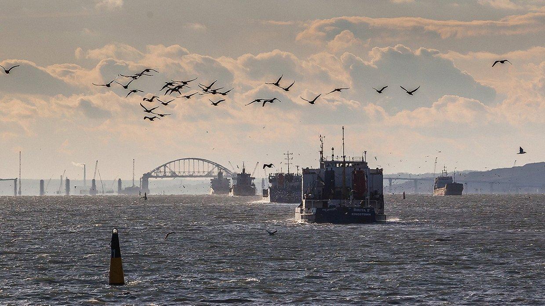 Из-за блокированияРФ вКерченском проливе собралось  больше 400 кораблей— МинВОТ